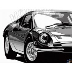 Картины по номерам «Машина моей мечты»