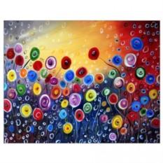Картина-раскраска по номерам на холсте Абстракция
