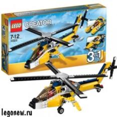 Конструктор Лего Криэйтор. Жёлтый скоростной вертолет