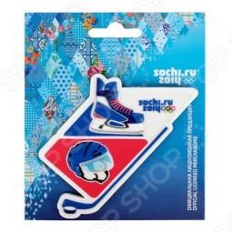 Магнит Sochi 2014 «Хоккейные атрибуты»