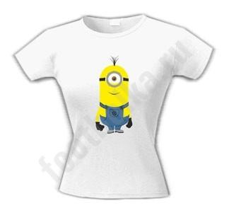 Женская футболка Одноглазый Миньон