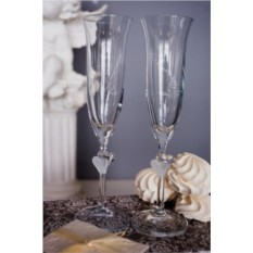 Набор свадебных бокалов с вашим текстом На крючке