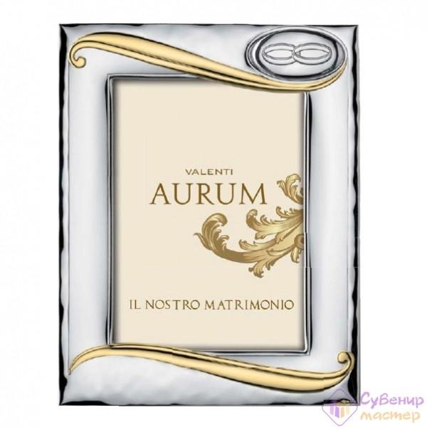 Фоторамка Valenty Aurum, кольца и золотые полоски