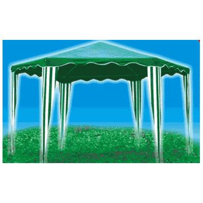 Тент-шатер шестиугольный 2х2х2м, зелёный, без стенок