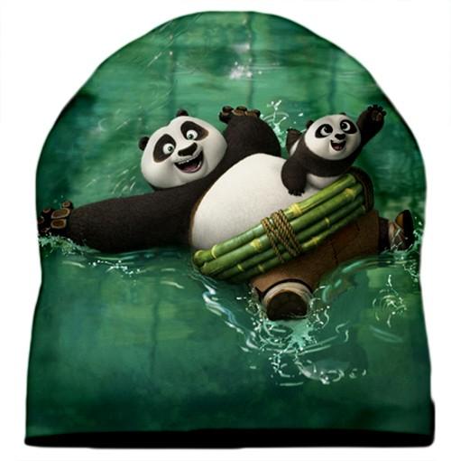 3D Шапка Панды плывут