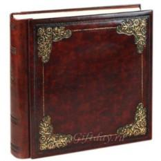 Кожаный фотоальбом с классическим тиснением из позолоты