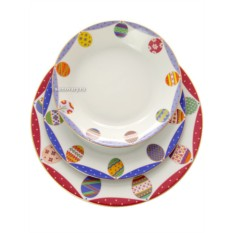 Комплект тарелок Пасхальная трапеза. Аметист
