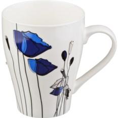 Кружка Синие цветы, объем 300 мл