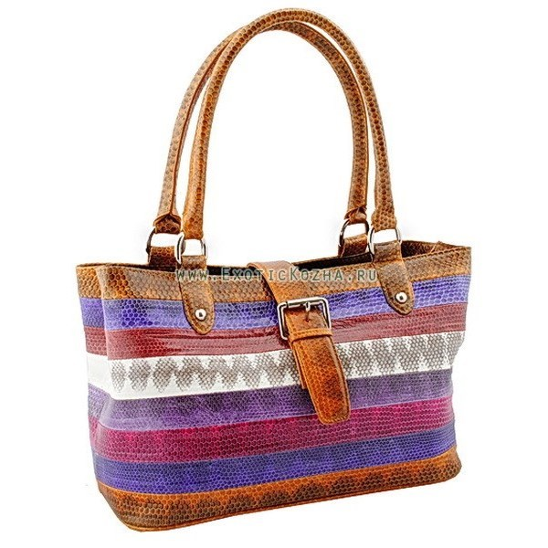 Женская сумка кожа морской змеи
