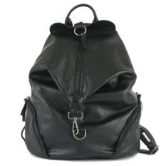 Черный рюкзак с карабином