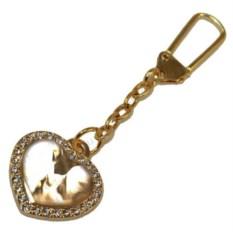 Золотистый брелок-подвеска для сумки Love