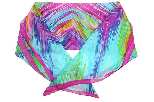 Женский платок цвета фуксии Fabretti (вискоза)