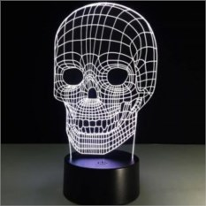 Настольная 3D-лампа Череп