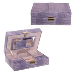Сиреневая шкатулка для украшений (25х16,5х9 см)