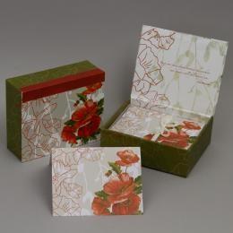 Набор дизайнерских открыток «Маки» в подарочной коробке