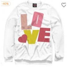 Свитшот Любовь и буквы