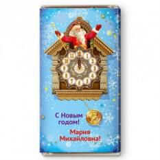 Шоколадная открытка Часы с кукушкой