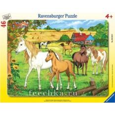 Пазл Лошади в загоне Ravensburger