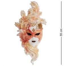 Большая венецианская маска Павлин (цвет — золотисто-белый)