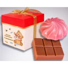 Мыльный десерт «Зефир и шоколадка»