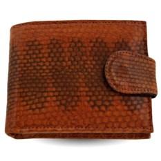 Мужской кошелек из кожи морской змеи (цвет - виски)