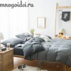 Комплект трикотажного постельного белья Оттенки серого