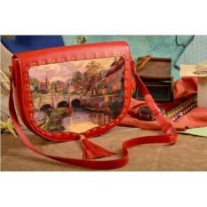Женская сумка-седло Живописный мостик