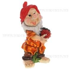 Декоративная фигурка Гном с клубникой
