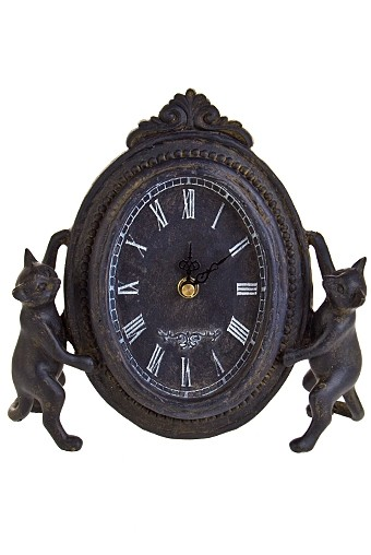 Часы настольные Дуэт кошек