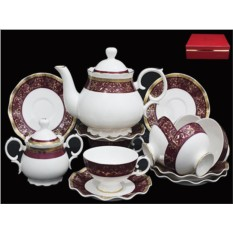Фарфоровый чайный сервиз из 16 предметов от Lenardi