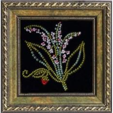Картина с кристаллами Сваровски Ландыши-2