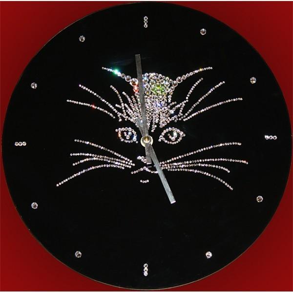 Часы с кристаллами Swarovski Кошка