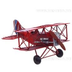 Модель самолета красного цвета (16 см)