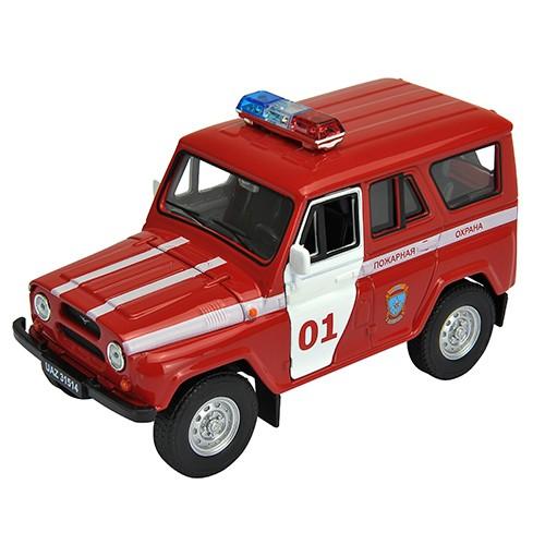 Инерционная машинка Welly 1:34-39 УАЗ 31514 Пожарная