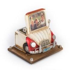 Фоторамка с подставкой для ручек Бело-красный автомобиль