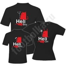 Футболки для семьи Hell boy / girl / baby halloween