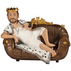 Подарок мужу по фото Король дивана 30 см