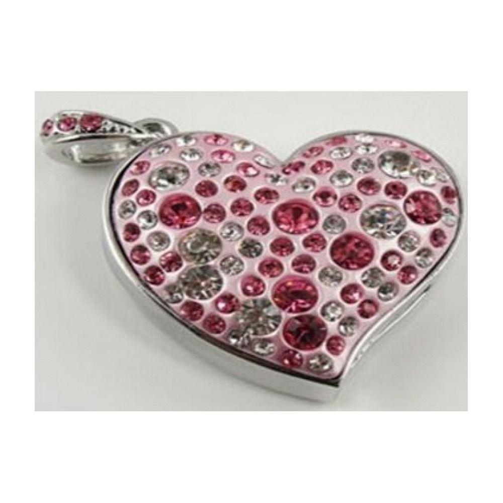 Флешка Сердце розовое на 32 ГБ