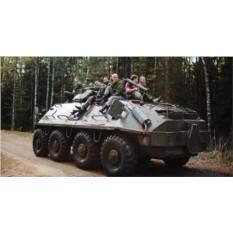 Управление военным УАЗом и стрельба из АК