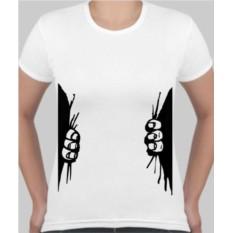 Женская футболка Обхват за талию