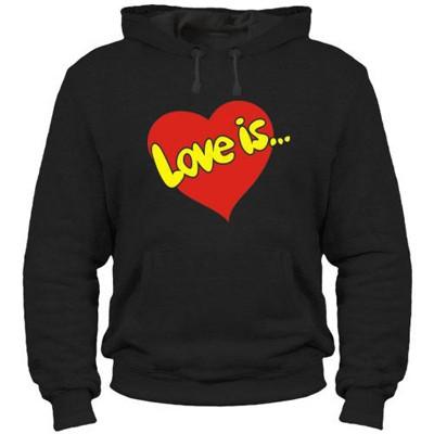 Унисекс толстовка Love is