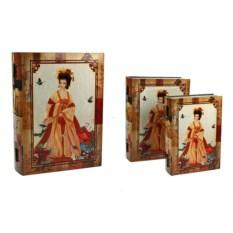 Набор из двух сундучков с изображением девушки