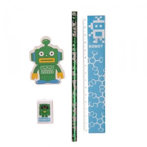Канцелярский набор Retro Robot (зеленый)