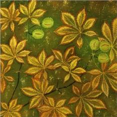 Платок «Осенние каштаны»