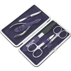 Маникюрный набор Dewal, 5 предметов, фиолетовый