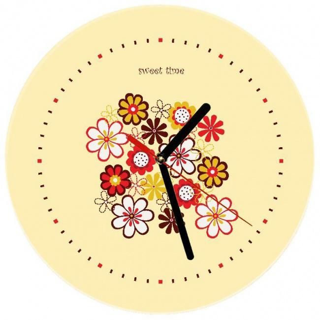 Часы «Яркие цветы»