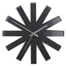 Черные настенные часы Ribbon