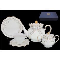 Фарфоровый чайный сервиз 22 предмета Подарочный