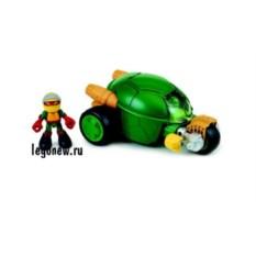 Фигурка Черепашки-ниндзя Раф с мотоциклом-стелс