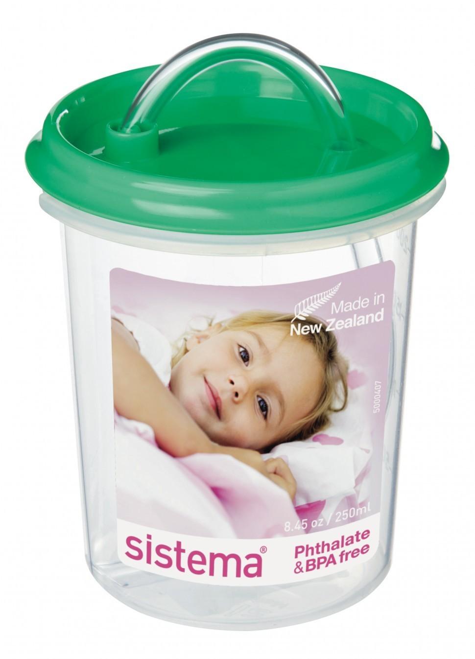 Детская чашка с трубочкой green